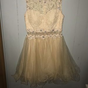 Champagne short dress